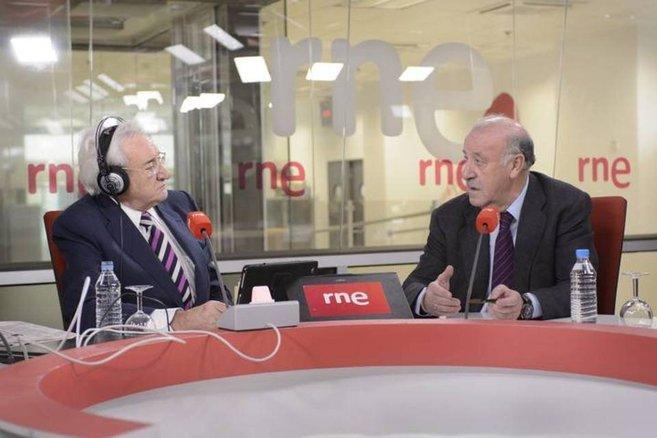 Luis del Olmo junto a Vicente del Bosque, en la última entrevista que...
