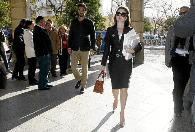 La magistrada Mercedes Alaya, a su llegada a los juzgados el pasado 12...