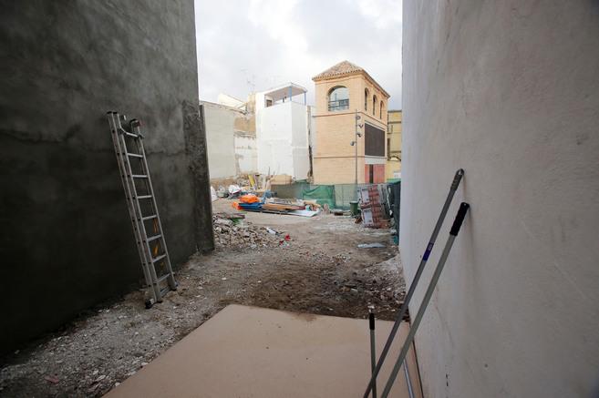 Vista del solar en el que la Comunidad Israelita de Málaga iba a...