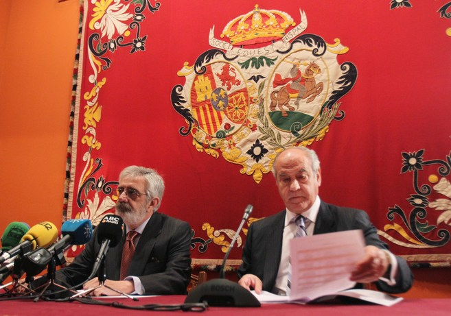 Los empresarios Eduardo Canorea (izquierda) y Ramón Valencia, en la...