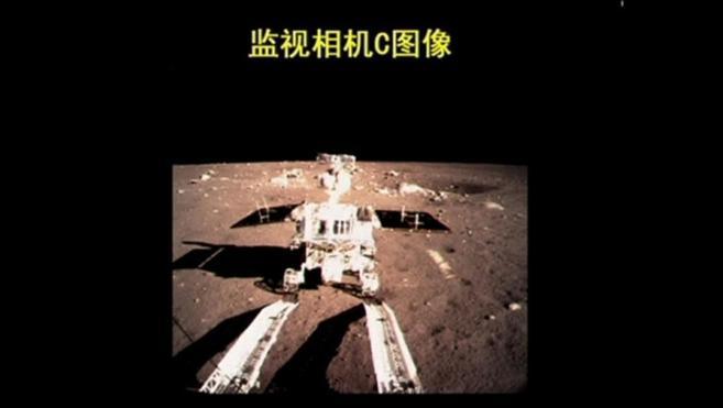 El robot 'Liebre de Jade' por la superficie lunar