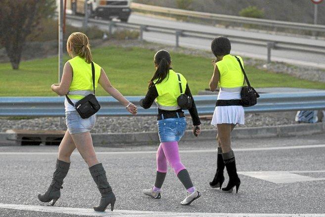 Prostitutas en una carretera de Lleida