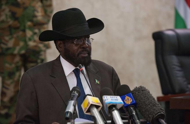 El presidente de Sudán del Sur, Salva Kir, en Yuba.
