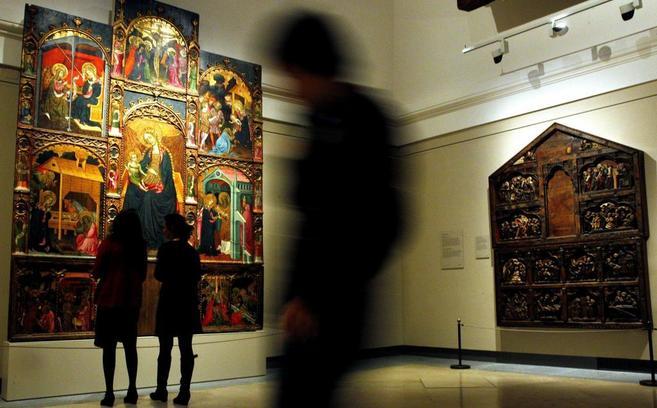 'Retablo de la Virgen' del Maestro de Torralba, que se muestra en la...