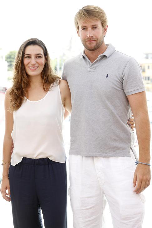 Eugenia Osborne y su marido, este verano.