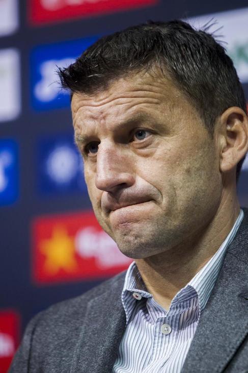 Miroslav Djukic, tras ser destituido como técnico del Valencia.