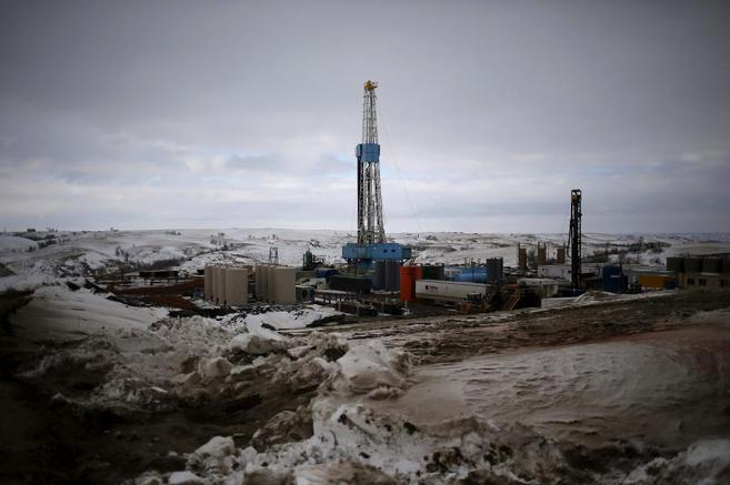 Instalación de fracking en Dakota del Norte, EEUU