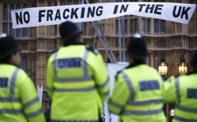 Protestas contra el uso del fracking en diciembre del año pasado en...