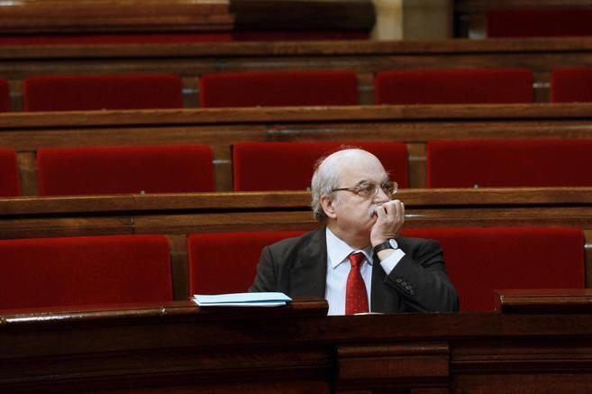 El 'conseller' de Economía, Andreu Mas-Colell, en una...