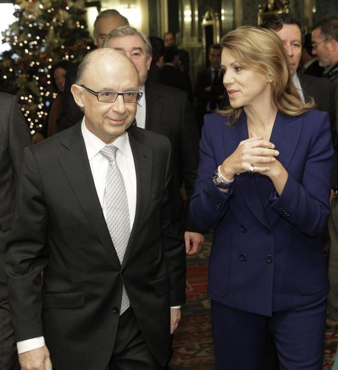 Montoro y Cospedal, el pasado lunes, en una reunión del PP en el...