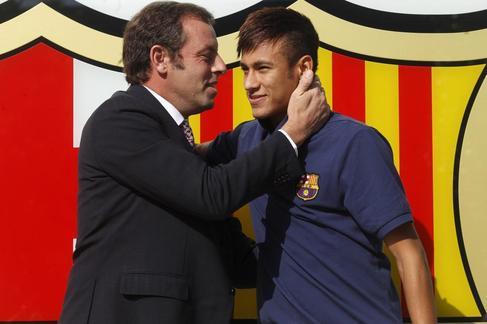 Rosell y Neymar.
