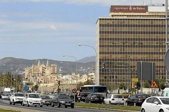 Imagen actual del edificio de Gesa en pleno Paseo Marítimo de Palma.