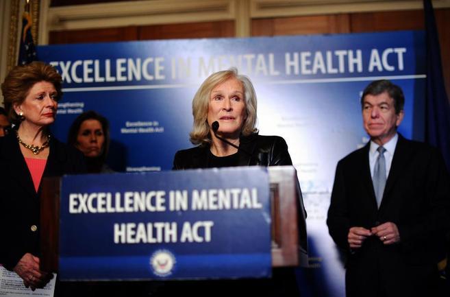 La actriz Glenn Close, durante una conferencia sobre la salud mental.