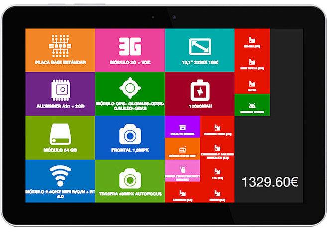 Se puede configurar una tableta más sofisticada, y más cara