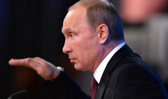 El presidente ruso, Vladimir Putin, en su encuentro anual con la...