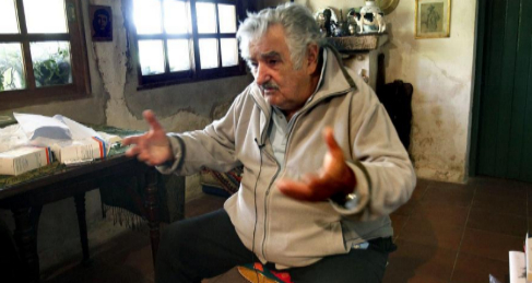 El presidente uruguayo, José Mujica, en su casa de Montevideo.