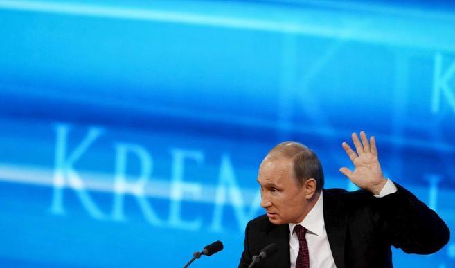 El presidente ruso, Vladimir Putin, durante su discurso anual en...
