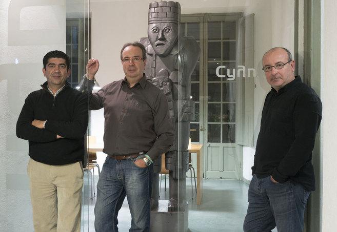 Miguel Alonso, Javier Márquez y Santiago Márquez, responsables de...