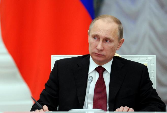 El presidente ruso Vladimir Putin en un encuentro en el Kremlin de...