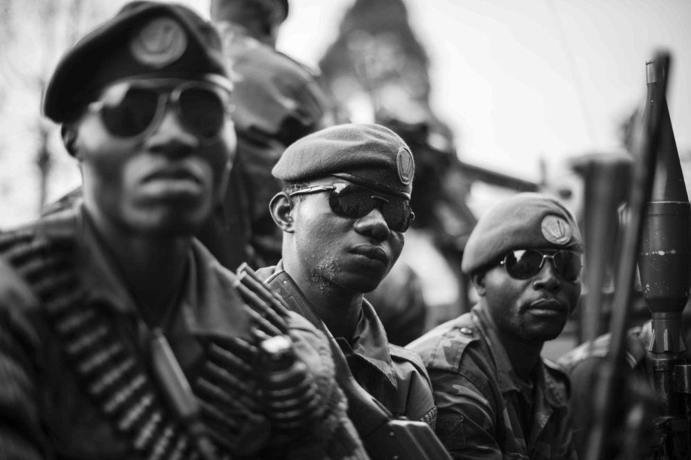 Soldados del ejército congoleño.