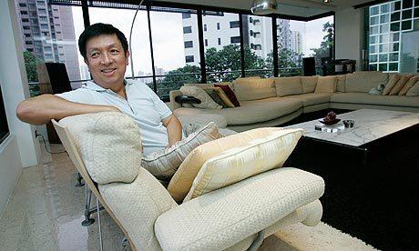 El magnate asiático Peter Lim, en su despacho.