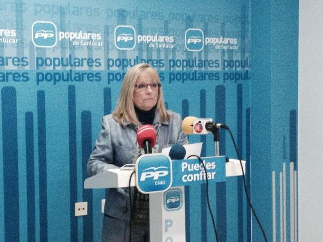Regina Arocha, durante la rueda de prensa en la que ha anunciado su...