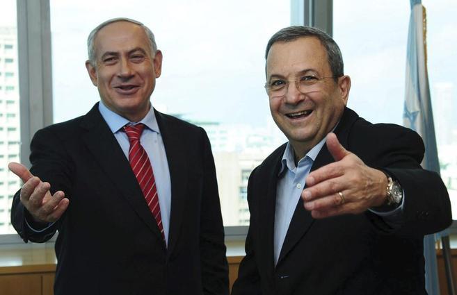 Ehud Barak y Benjamin Netanyahu.