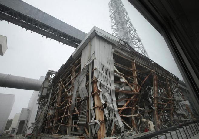 Vista de uno de los edificios de la central.