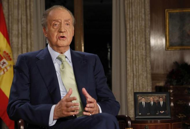 El Rey, durante su mensaje en 2011.