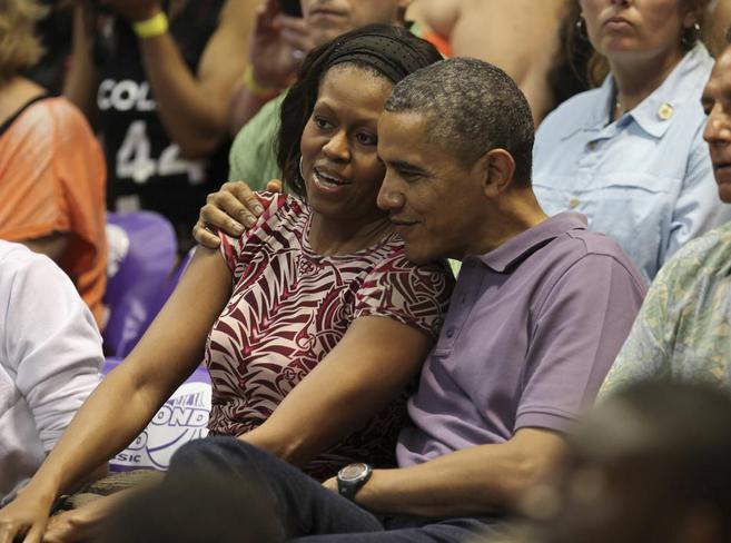 Obama y su mujer durante sus vacaciones de Navidad en Hawai