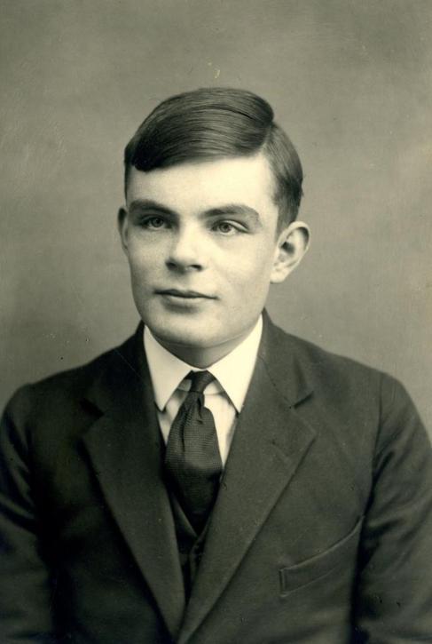 Alan Turing de joven