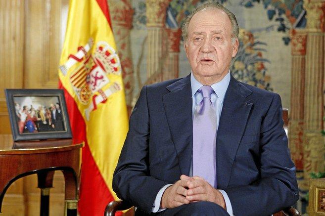 Momento del discurso televisado del Rey en 2008.