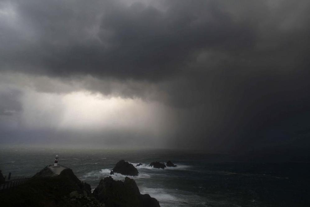 Aspecto que presentaban el cielo y el mar en el cabo Ortegal, en el...