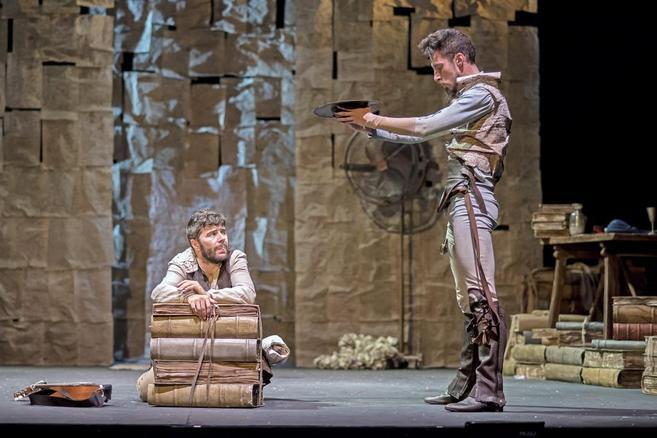 Representación de 'En un lugar del Quijote', en el Teatro...
