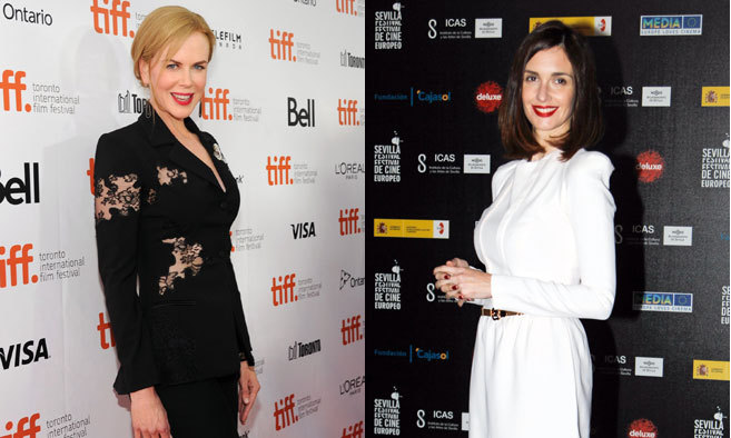 Las actrices Nicole Kidman (izqda) y Paz Vega.