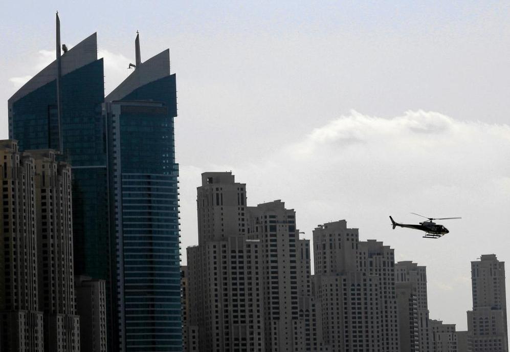 Un helicóptero, en Dubai en 2009.