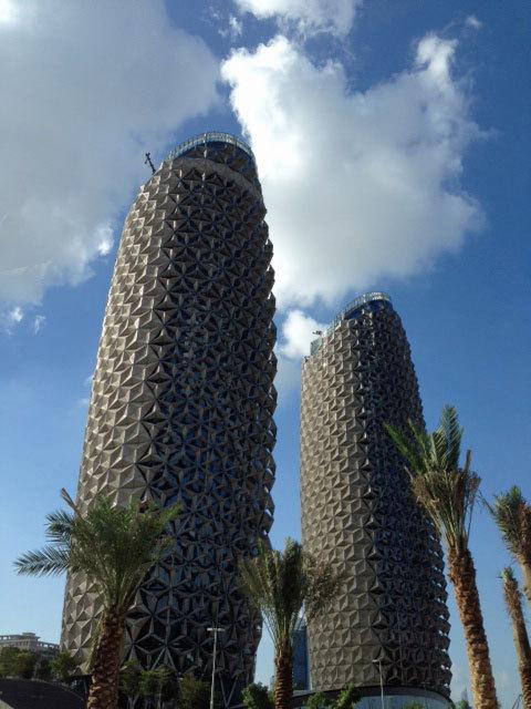 Torres en Abu Dhabi.