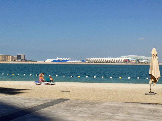 Complejo residencial de Raha Beach en Abu Dhabi.