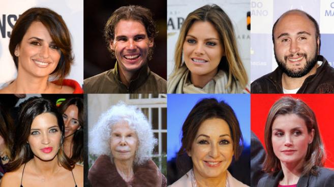 Penélope Cruz, Rafa Nadal, Amaia Salamanca, Kiko Rivera, Sara...