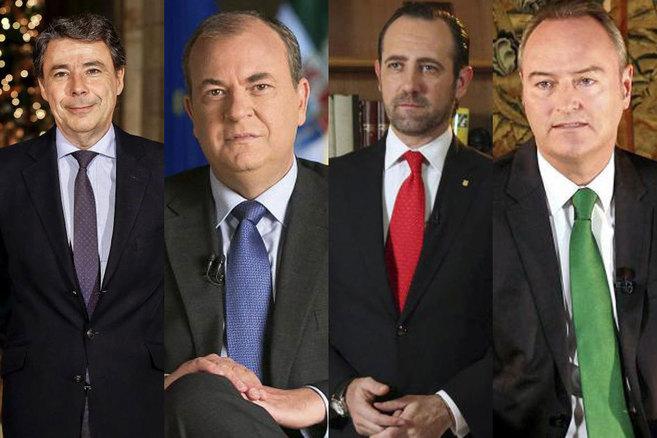 Ignacio González, José Antonio Monago, José Ramón Bauzá y Alberto...