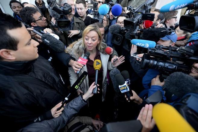 Sabine Khem, durante su comparecencia ante los medios.