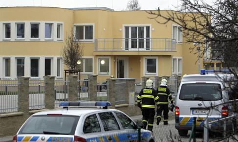 Fachada de la casa del embajador donde ha tenido lugar la explosión.