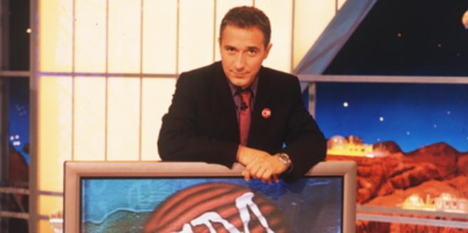Javier Sardá en el plató de 'Crónicas Marcianas'.