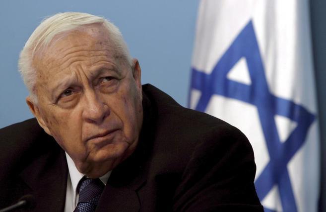 Ariel Sharon, el ex primer ministro de Israel en una imagen tomada en...