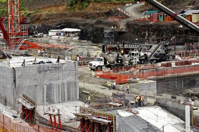 Muestra de las obras de la ampliación del Canal de Panamá, que...