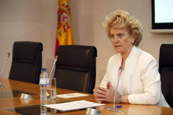Soledad Becerril durante la rueda de prensa como nueva Defensora del...