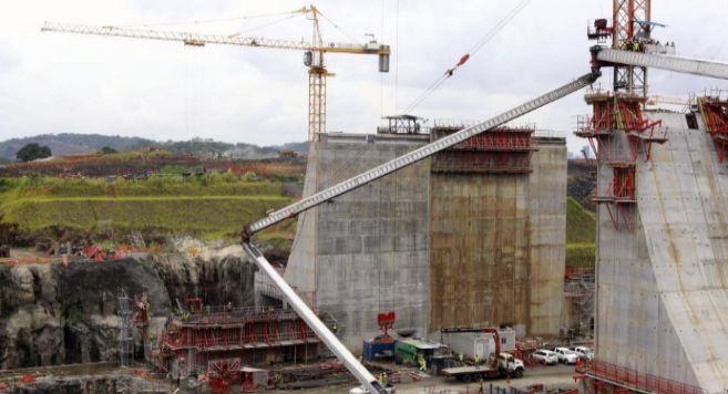 Obras de ampliación en el canal de Panamá.