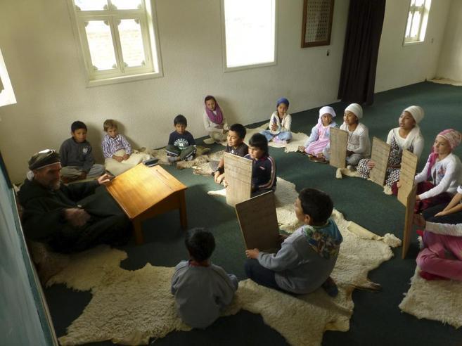 Un grupo de niños estudia el Corán en Chiapas.