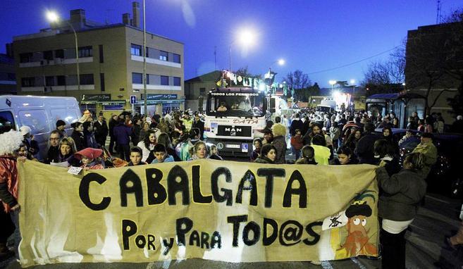 Cabalgata de Hortaleza en el año 2009.