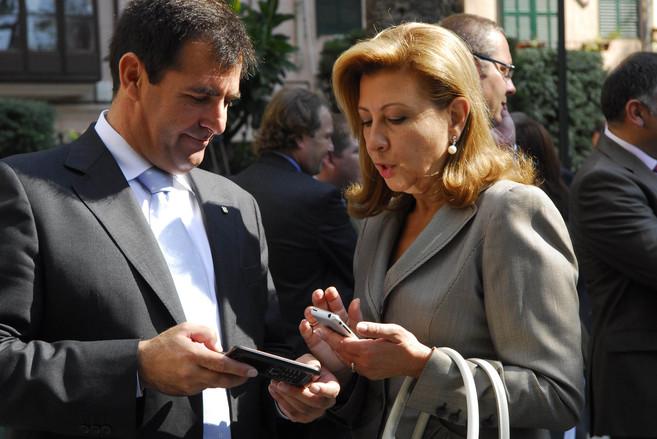 Miquel Nadal y Maria Antònia Munar, en 2008.